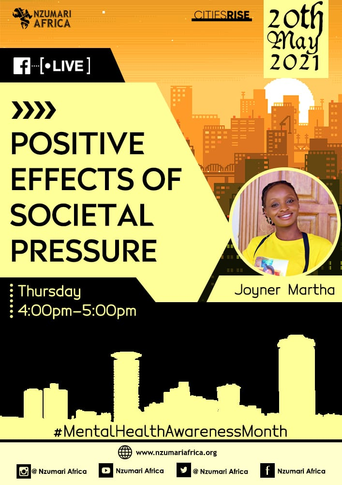 Join us this evening between 4 to 5pm on our Facebook group with @She_Joy_  as she discusses on the positive effects of societal pressure!  See you there  link to the group 👇 https://t.co/JBu3xi8DU0  #MentalHealthAwarenessMonth  @citiesRISE @gkasiva @miss_bridgo @zachjuliu https://t.co/fXVJGhg3eF