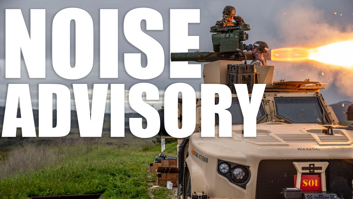 NOISE ADVISORY  Artillery units are scheduled to train from 6 a.m. to midnight, June 5-11.  For more information regarding noise reports and more information on why we train, visit the Camp Pendleton website at:  https://t.co/FstajMLmEF https://t.co/uIs3U2Lzpw