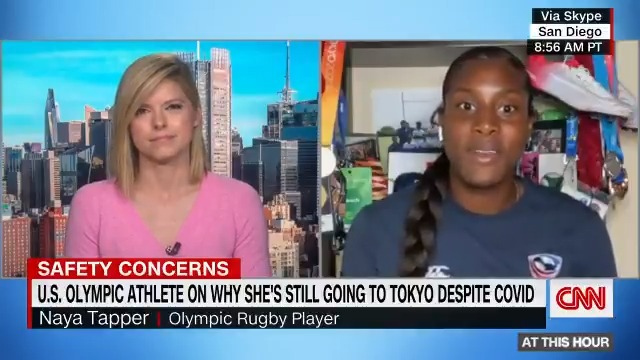 """Olympic rugby player Naya Tapper says she and her fellow athletes will have """"very strict"""" regimens, including quarantining and staying in team """"bubbles,"""" to prevent Covid-19 spread at the Tokyo Olympics. https://t.co/aq7hnWC9ia https://t.co/zYnfIGB6Iv"""