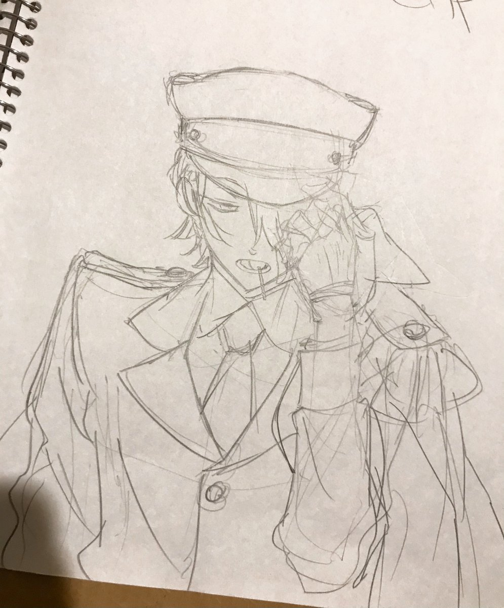 軍服ブレイク (オズとギルの軍服カラー絵描いた時のもの…?)