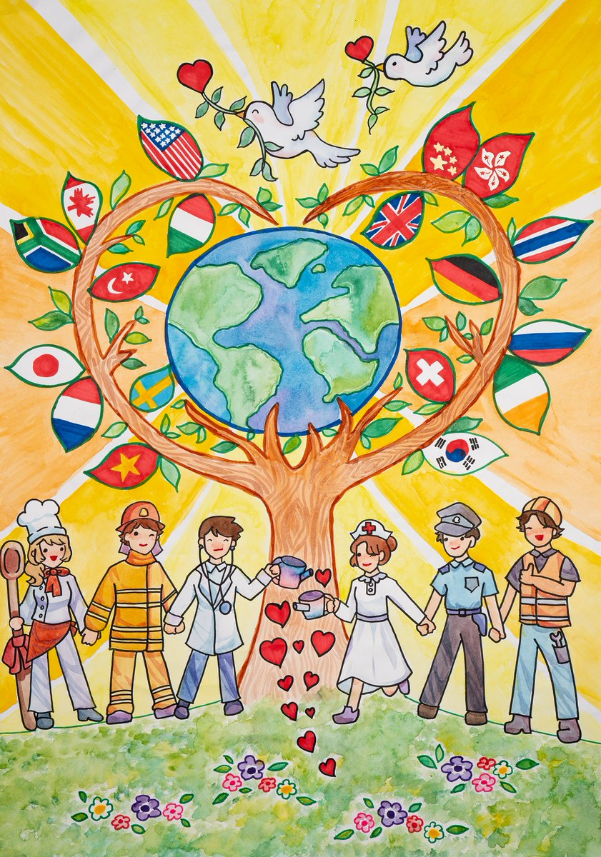 """test Twitter Media - """"Together we serve the community with love and kindness."""" Catherine Fan, age 13, from Hong Kong is a 2020-21 Lions #PeacePoster Merit Award Winner. Sponsored by the Kowloon Beacon Hill Lions Club. Learn more about the Peace Poster Contest: https://t.co/DKHHqgzxG3 ☮️ 🎨 🦁 https://t.co/U0LcQDHgYT"""