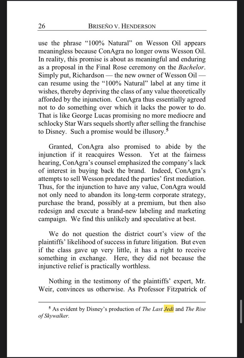 """#appellatetwitter Also, the Ninth Circuit makes it official, holding that, as a matter of law, Disney's THE LAST JEDI was """"mediocre and schlocky."""" https://t.co/G0RE56hPXP https://t.co/Cxkstoy6Ji"""
