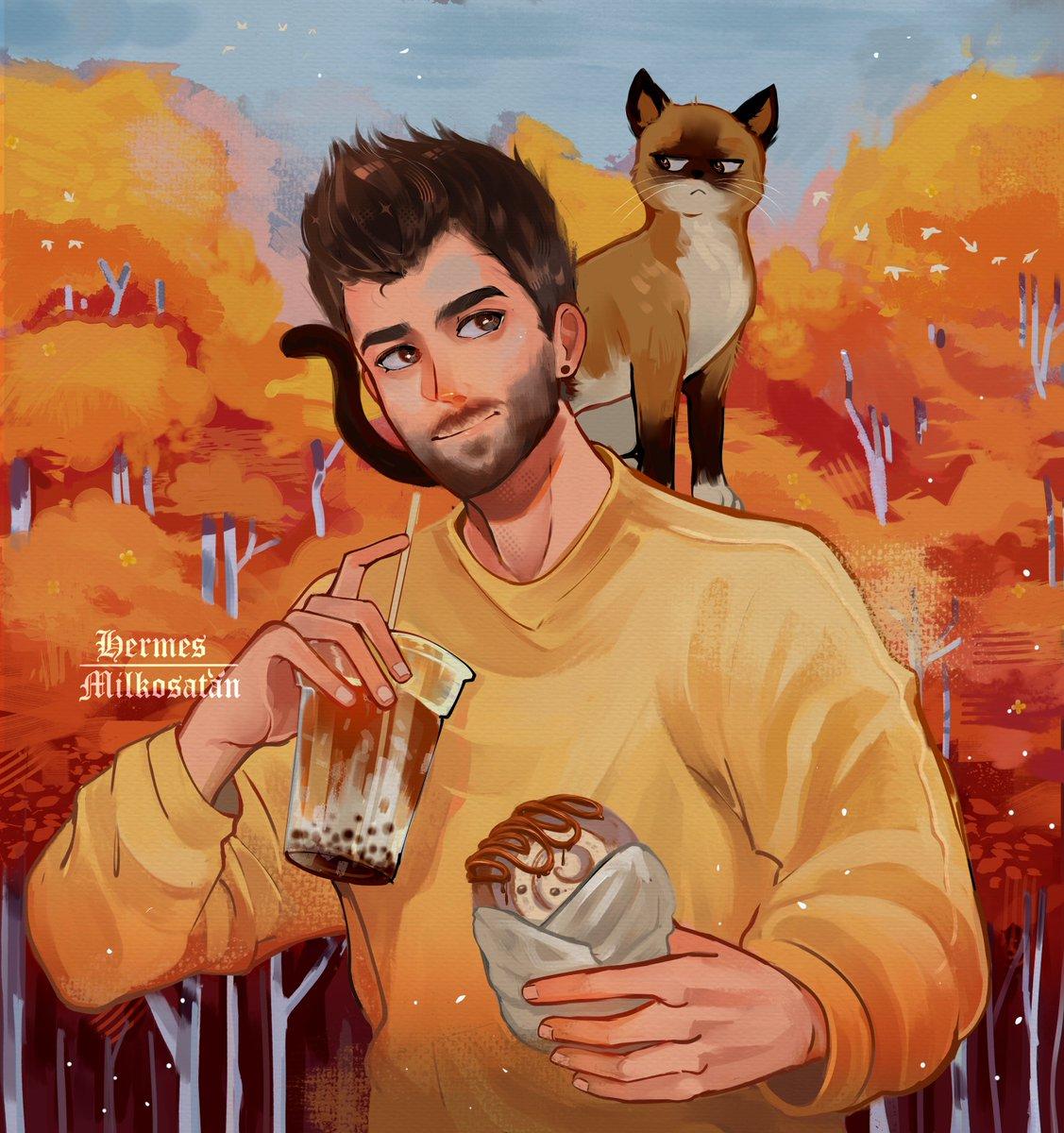 ✨オレンジの #Auronplay #Auronplayfanart  Llevo guardando este dibujo  siglos y apenas ayer me dio por terminarlo jaj Espero les guste, perdón no sé dibujar gatos ; @auronplay