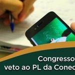 Image for the Tweet beginning: O Congresso Nacional derrubou o