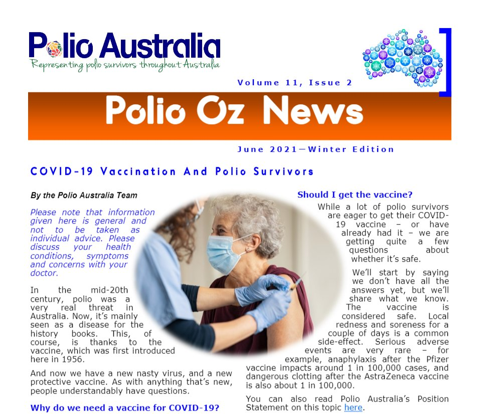 The ❄️Winter Edition❄️ of the Polio Oz News is now available! https://t.co/gokDztELxC