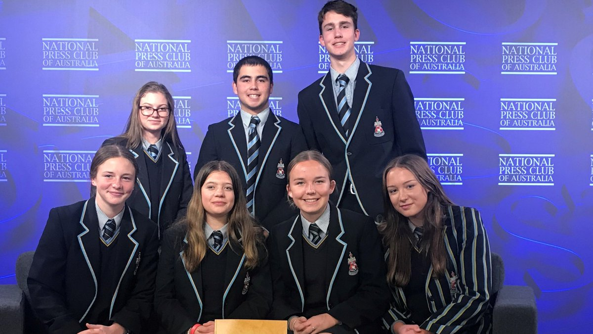 Aboriginal Studies students Kyra, Deklyn, Kye, Alice, Brie, Elisabeth & Taleah attended the National Press Club to hear the address by Fiona Cornforth, CEO of the @HealingOurWay Kye asked about the second stolen generation and what can young Australians do for healing to happen.