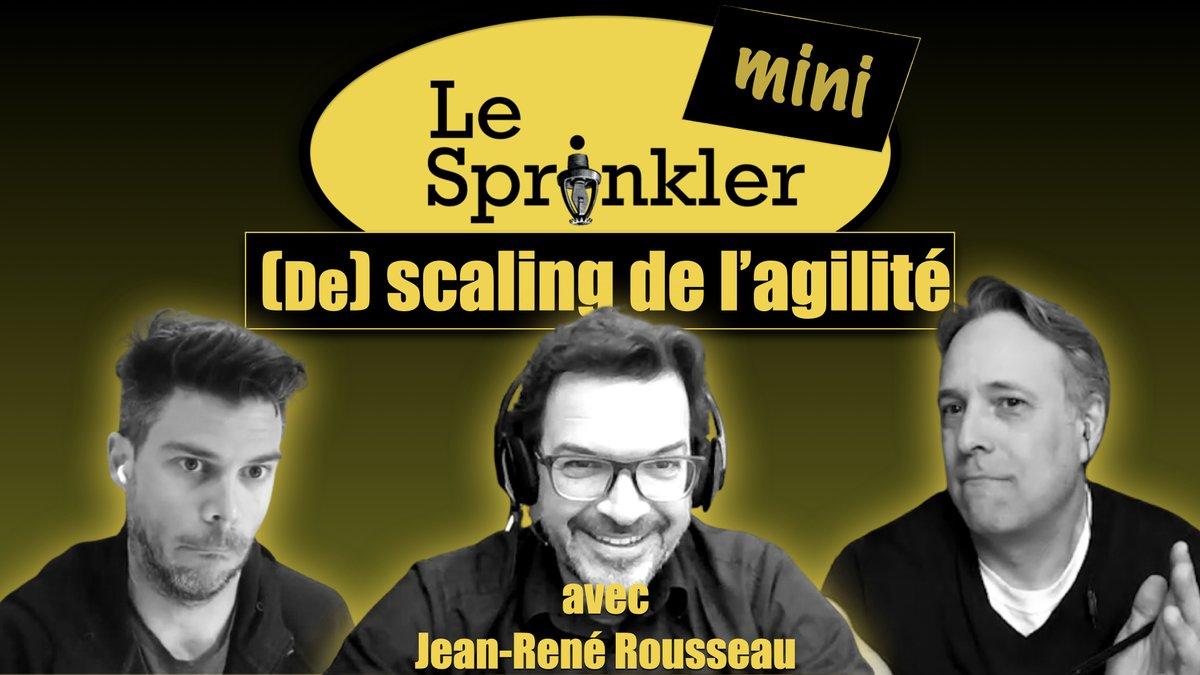 """""""Desclaling"""" de l'agilité. Et si c'était possible? youtube.com/watch?v=99rDUN… Audio : anchor.fm/sprinkler-mini Bonne écoute!"""