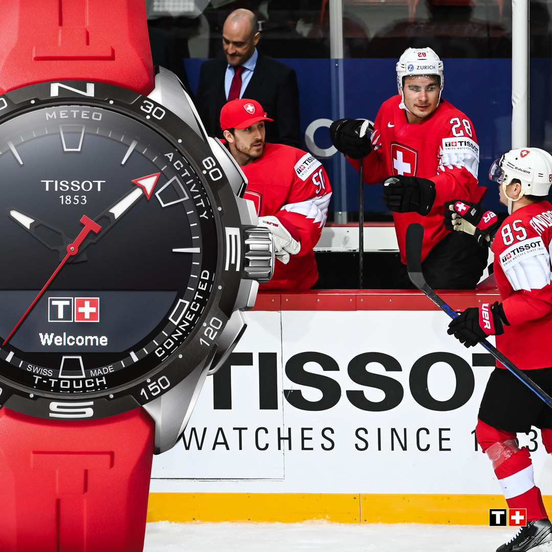 Tissot, the Official Timekeeper of the 2021 IIHF Ice Hockey World Championship, congratulates the Swiss national team on their qualification for the quarter-finals in Riga. Hop Switzerland! https://t.co/8Vi84sjIWr