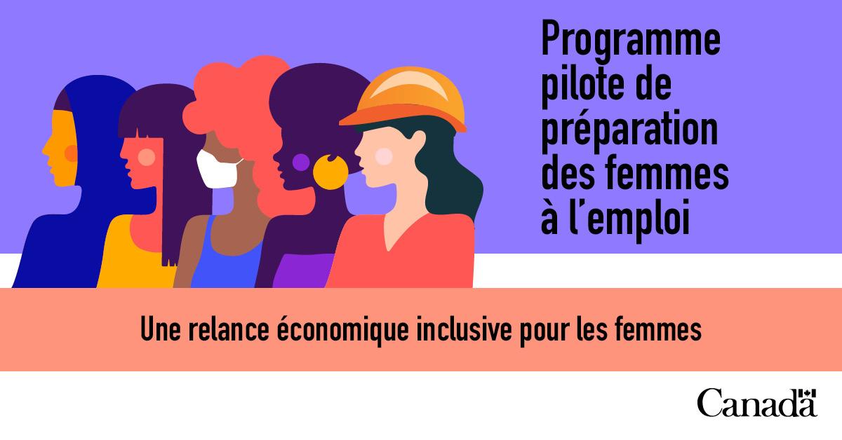 Programme pilote de préparation des femmes à l'emploi. Une relance économique inclusive pour les femmes.