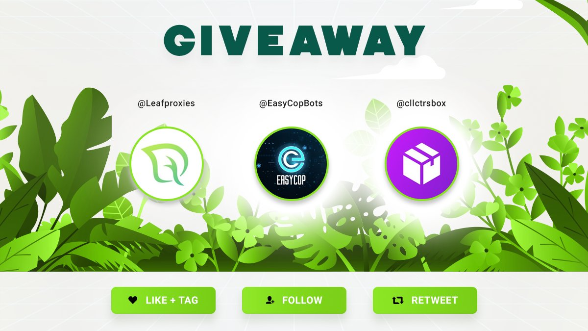 🚨 GIVEAWAY 🚨 To Win : - Follow @Leafproxies @EasyCopbots @cllctrsbox - RT - Like - Tag a Friend Make sure to follow all these steps!  Prizes 🎁 - 2 X 4 GB Residential Plan - 1 X EasyCopBots Copy - 1 X CllctrsBox Month Membership https://t.co/blt2N4iyY5