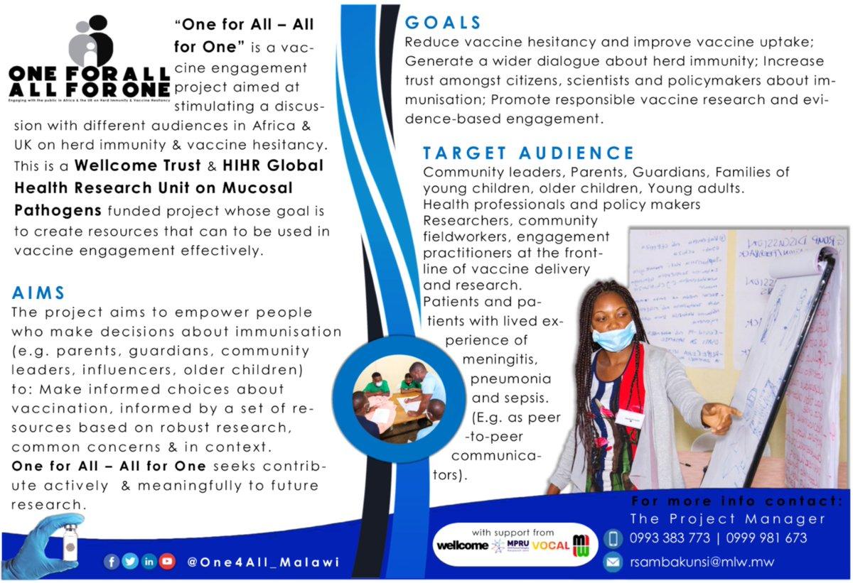 Know more about us. Our 🎯#Aims #Goals #TargetAudience. @wellcometrust @NIHR_MPRU @letsgetvocal @MlwTrust @MalawiGovt @RHeyderman @bellastarling @MalawiUNICEF @WHOMalawi #HerdImmunity #Vaccination https://t.co/YYsRKGrGvU