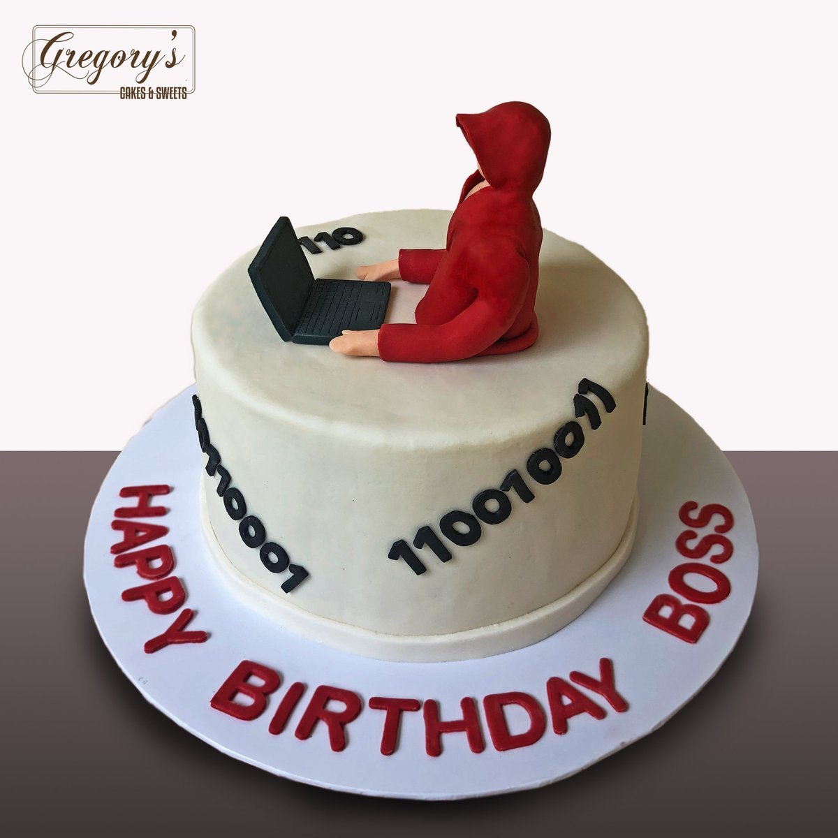 #Cake 🍰 Awesome of the Day ⭐ ➡️ #Geek 🤓 #Birthdaycake 🎂 #Binary Code 💻 via @Gregoryscakes #SamaCake 🎂 #SamaGeek 🧐  ➡️ View More #SamaCollection 👉 https://t.co/Kugls40kPu