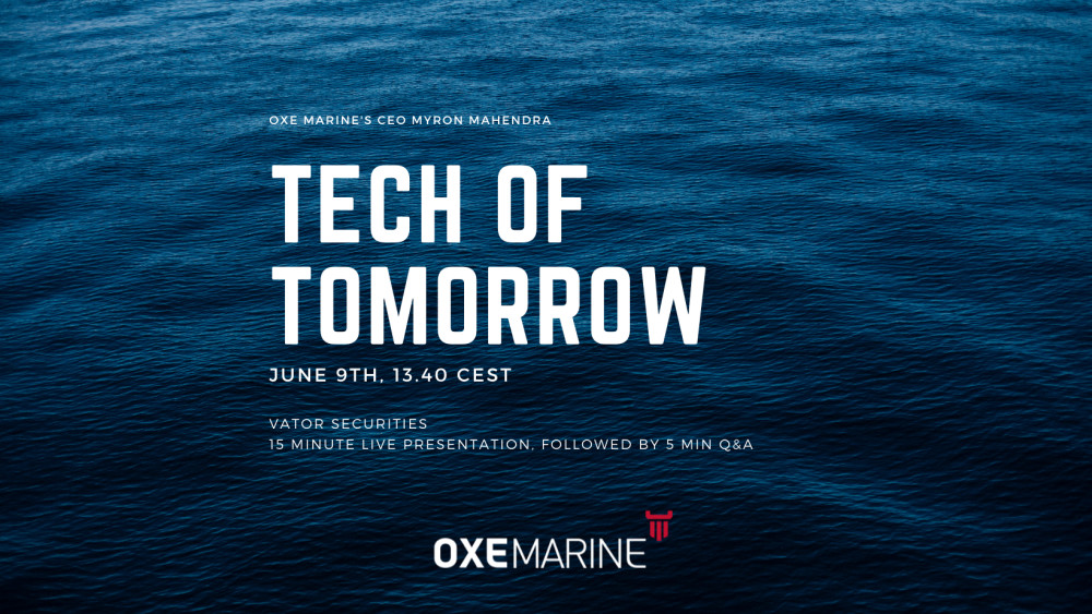 OXE Marine to present at Tech of tomorrow by Vator https://t.co/Gk4r5N0hKR https://t.co/pFjlaOCuoh