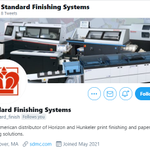 Image for the Tweet beginning: Please follow Standard Finishing System's