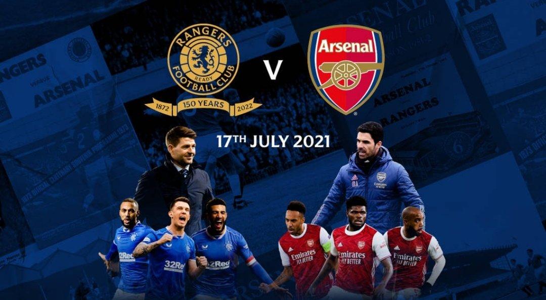 Glasgow Rangers vs Arsenal Full Match & Highlights 17 July 2021