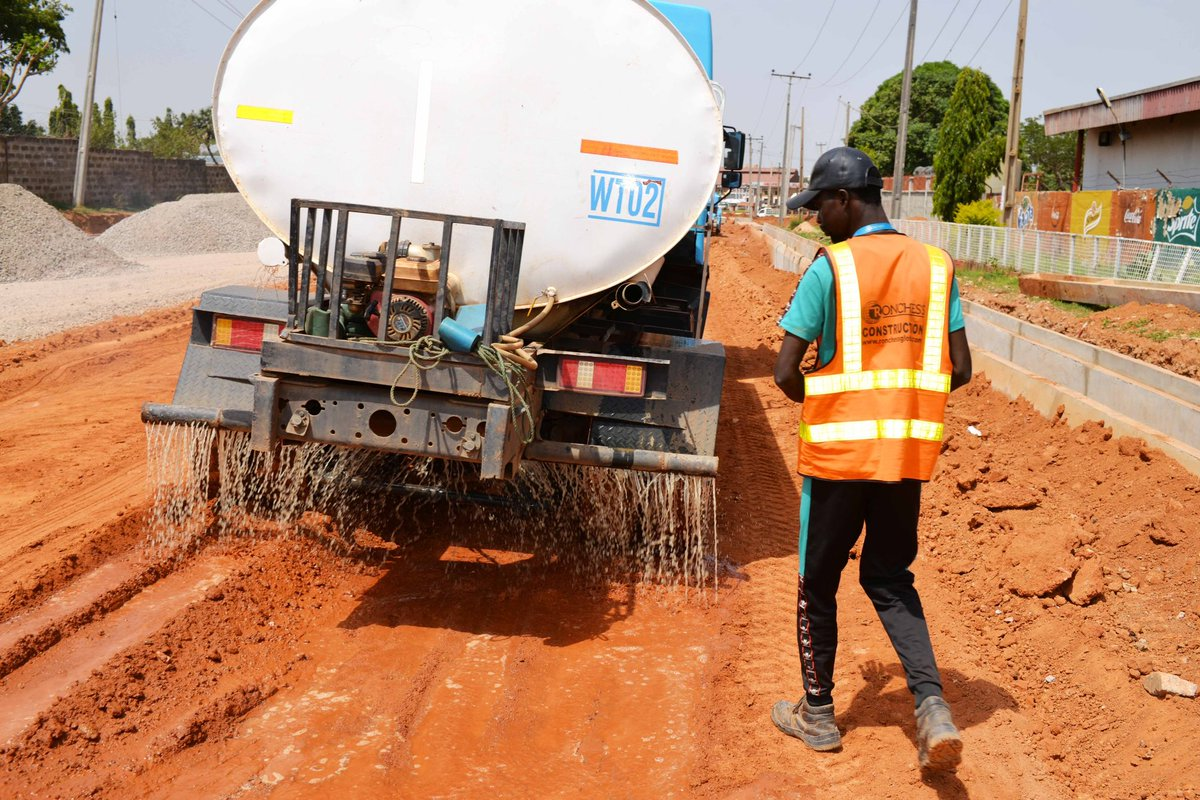 Update on the reconstruction of Pan Drive Road in Kaduna South LG. #KadunaUrbanRenewal