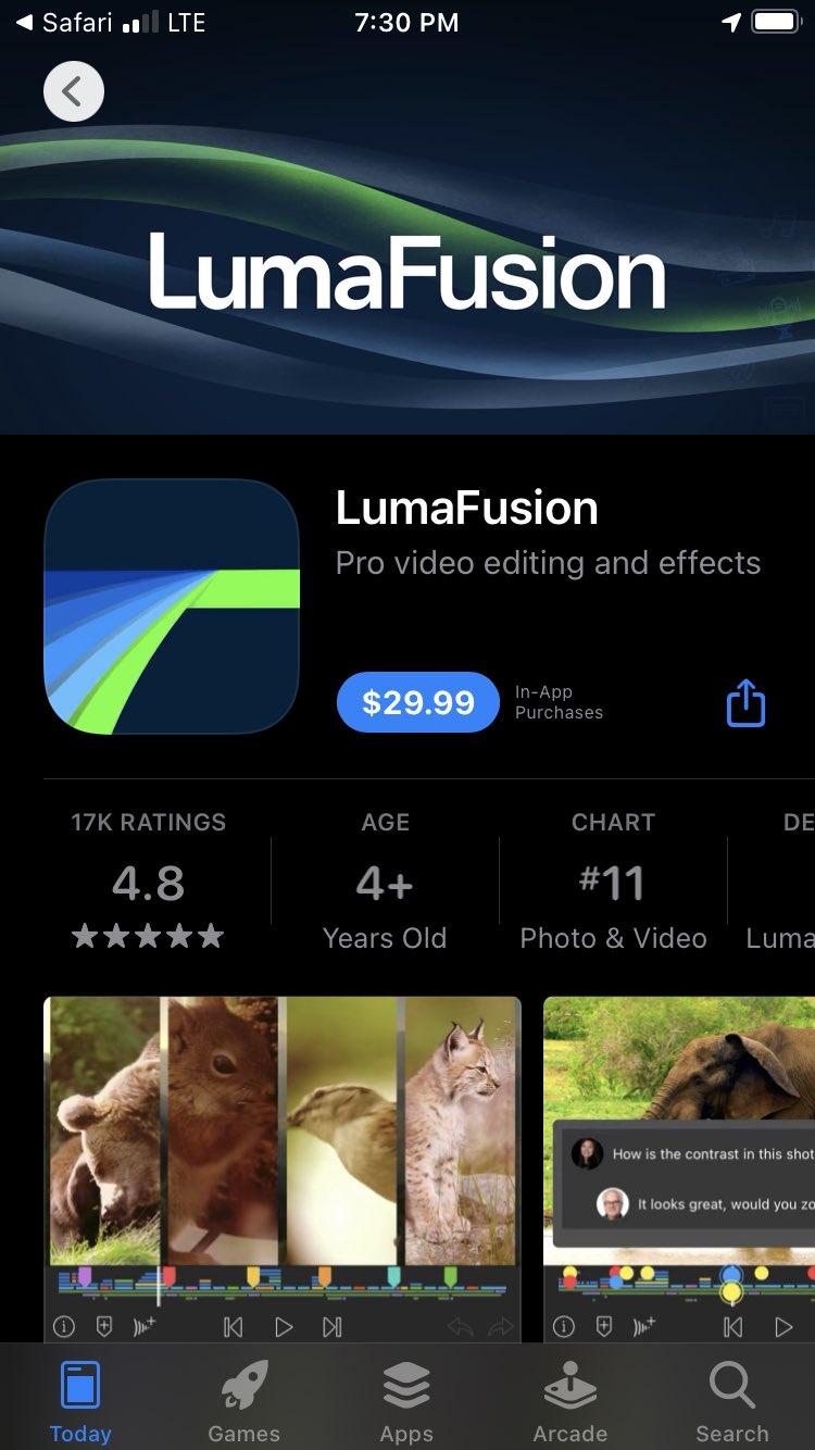 luma fusion app screencap