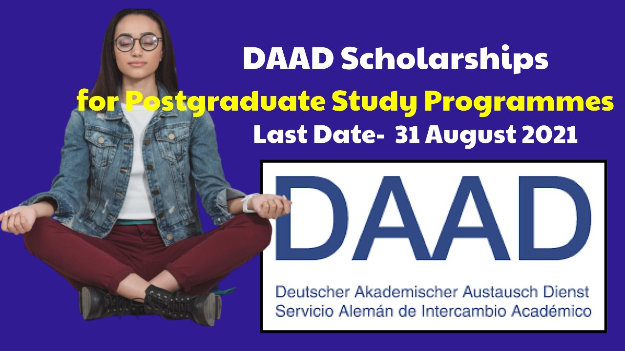 DAAD Scholarships for Postgraduate Study Programmes in Germany