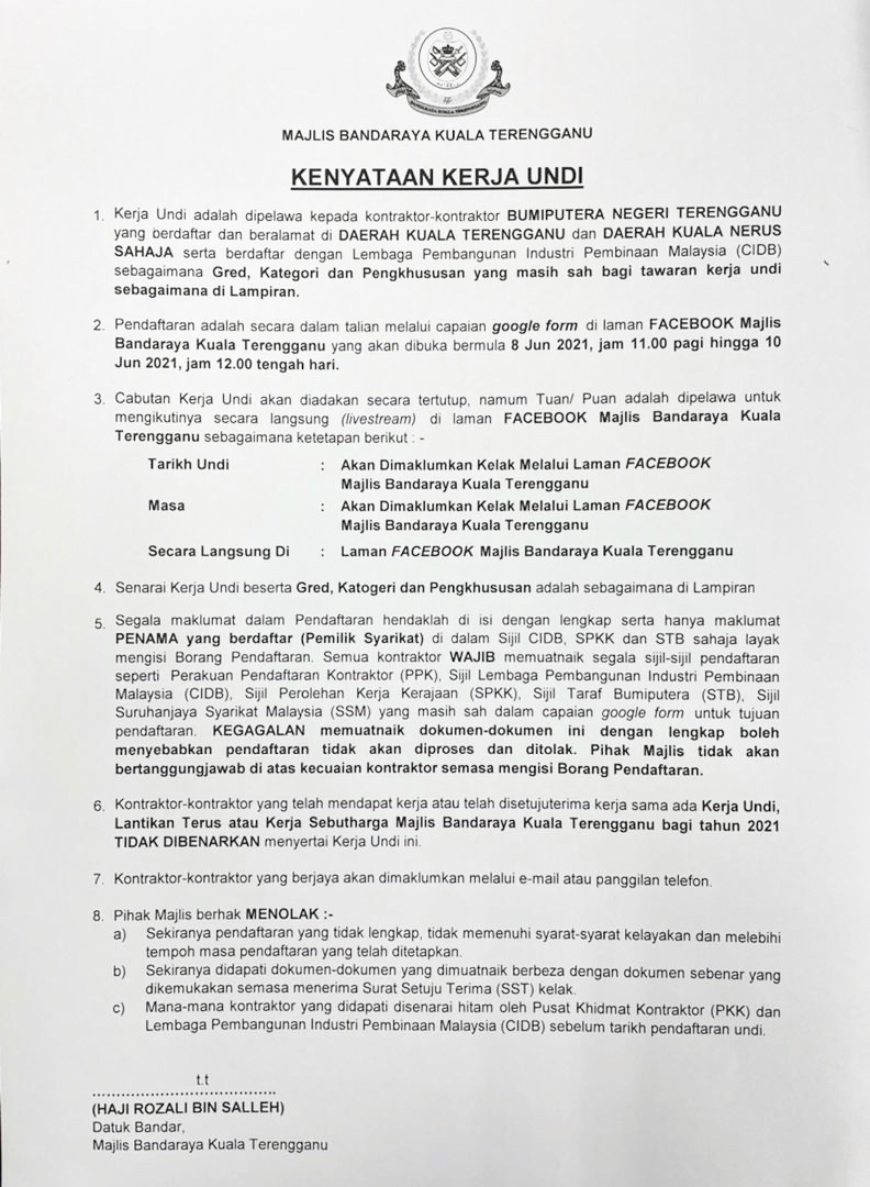 Majlis Daerah Kuala Terengganu - Dataset majlis daerah