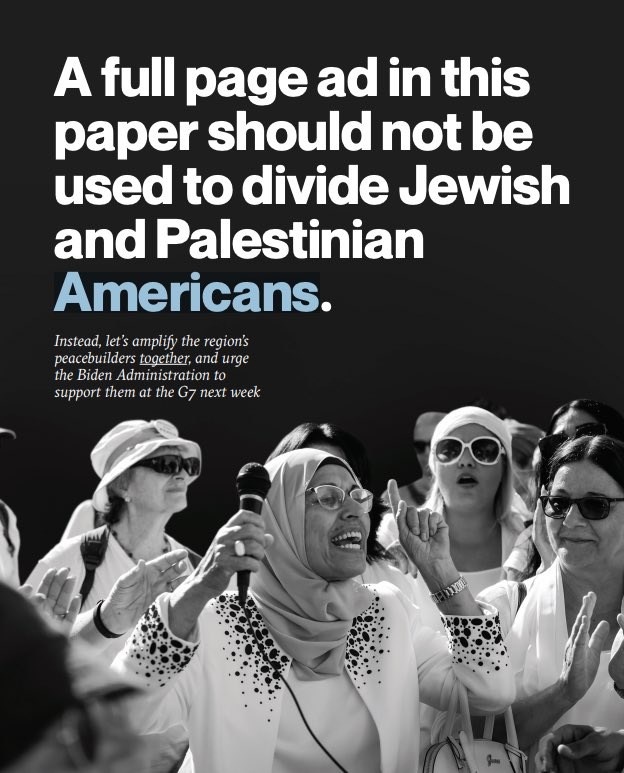Study after study shows that peacebuilding programs change Israeli/Palestinian lives & transform political possibilities. Share our ad in today's @nytimes & sign our call for @POTUS & @SecBlinken to lead allies at #G7UK summit & create an #IntFundForPeace https://t.co/bQJJctDH8H https://t.co/8x6KDst5Bi