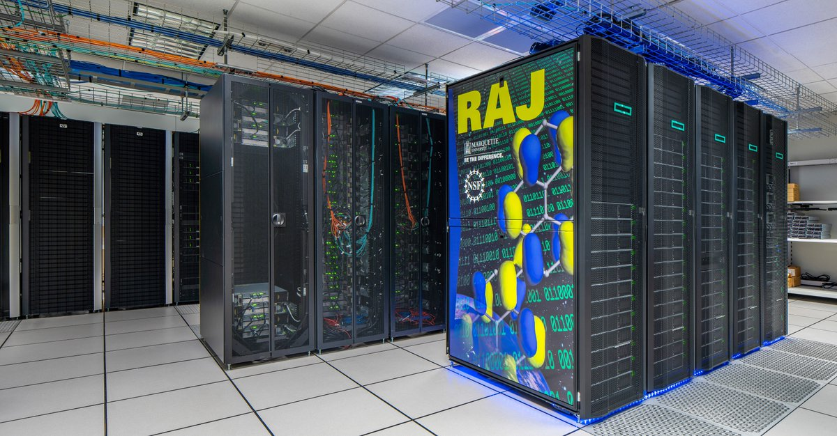 Newest Member of Milwaukee's Supercomputer Population  Raj provides very impressive capabilities for traditional number-crunching, artificial intelligence & machine learning applications, opening door for new, innovative research.  #MKETech #Midwest #AI #ML #SiliconPrairie #NMDSI