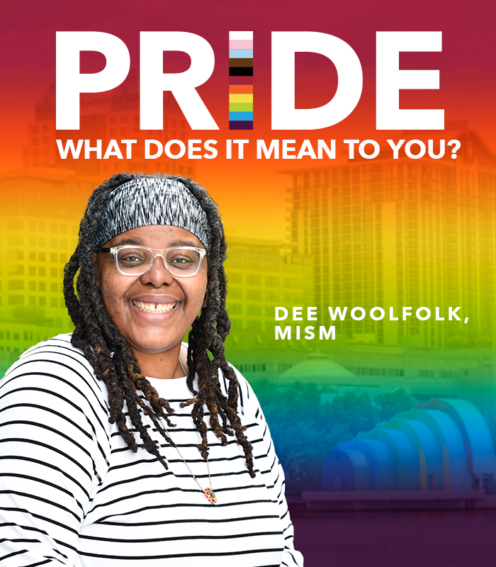Happy #PrideMonth! We asked some of our LGBTQIA+ team members what this special occasion means to them. Read on to learn what Dee Woolfolk, field service technician, IT-support ops, had to share. #ChooseOrlandoHealth #Pride2021 https://t.co/wnlA4lKelL