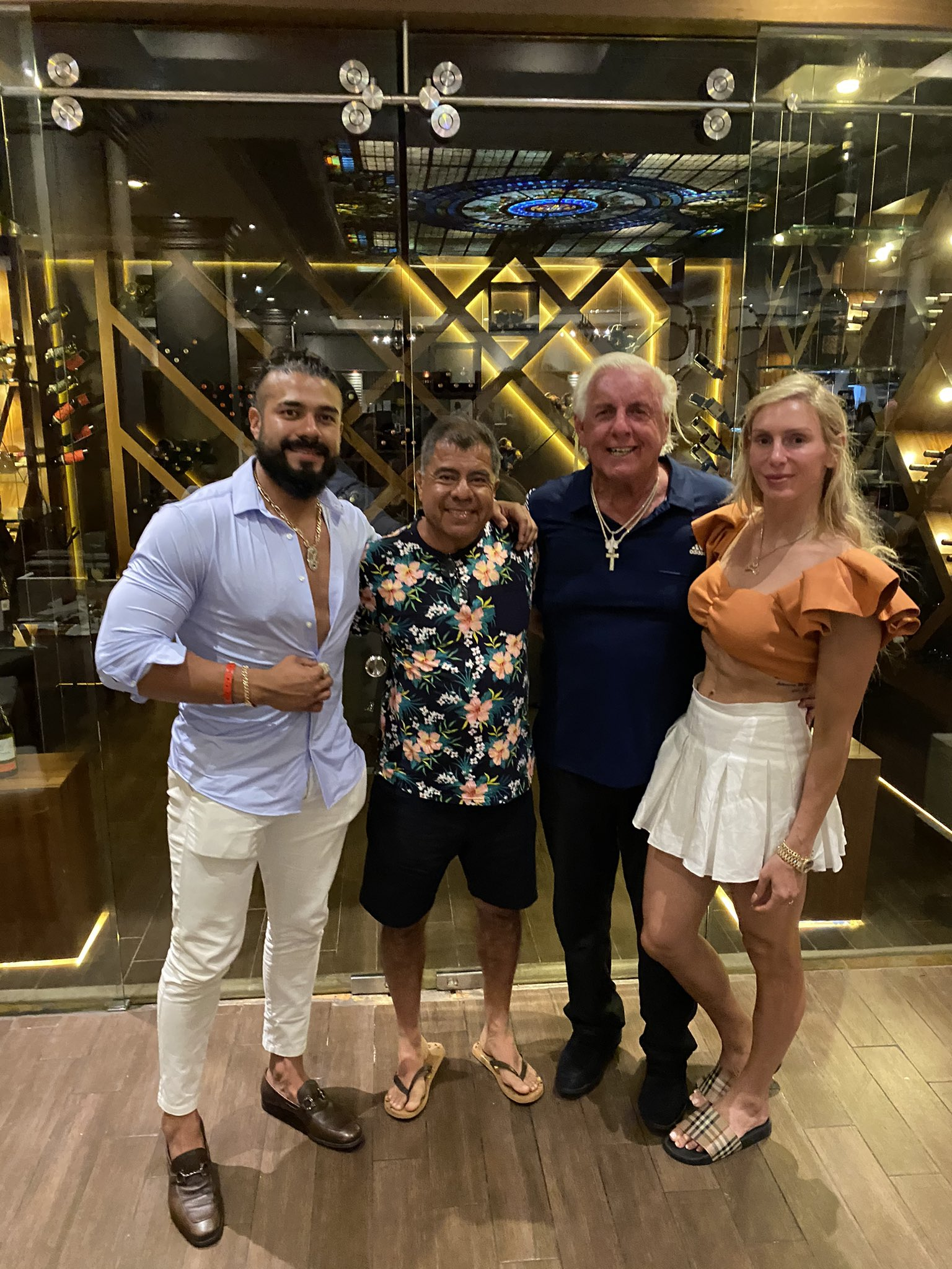 WWE Star Charlotte Flair Sparks Pregnancy Rumors With Fiancée Andrade 2