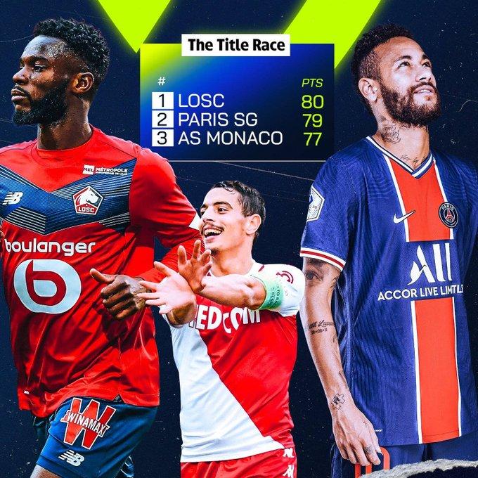 Persaingan 3 besar Liga Prancis 2020-2021