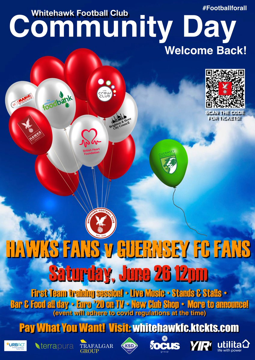 RT @HawksFCOfficial: We welcome our community back to the @terrapurauk Ground on June 26 from 12pm! Live music, face-painting, s...