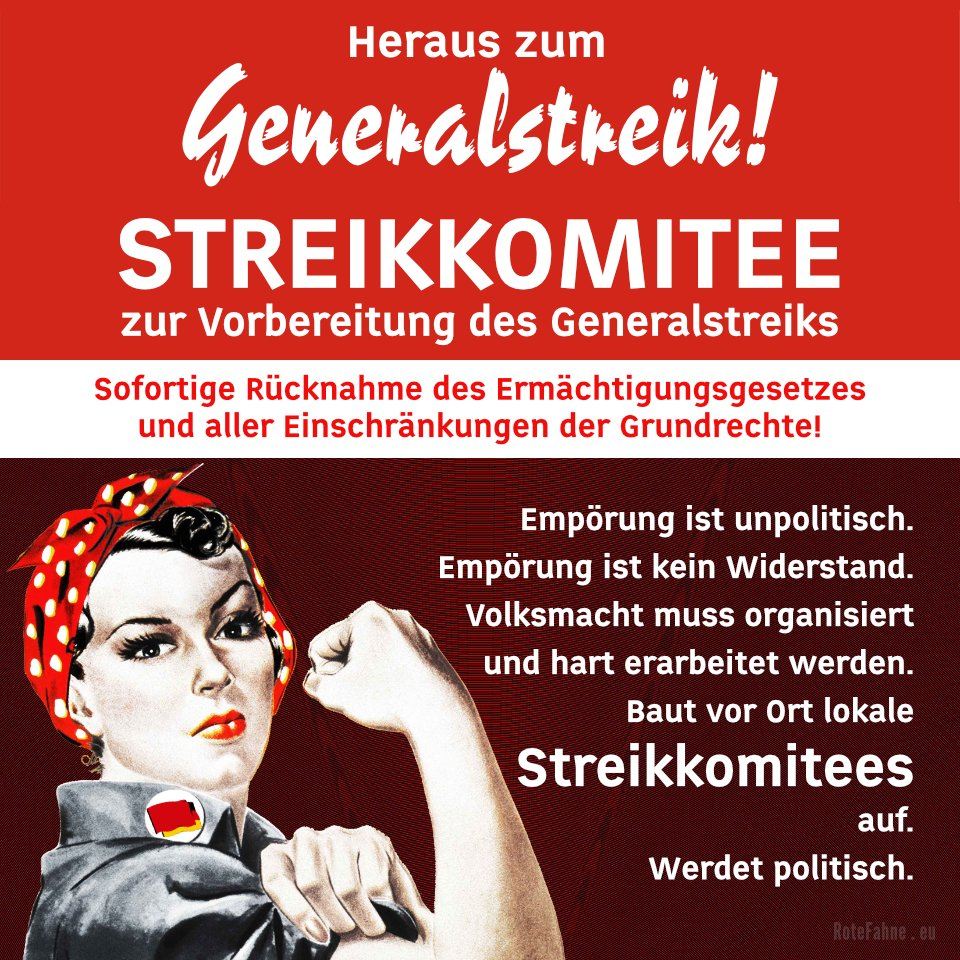 Baut vor Ort lokale Streikkomitees auf - Werdet politisch