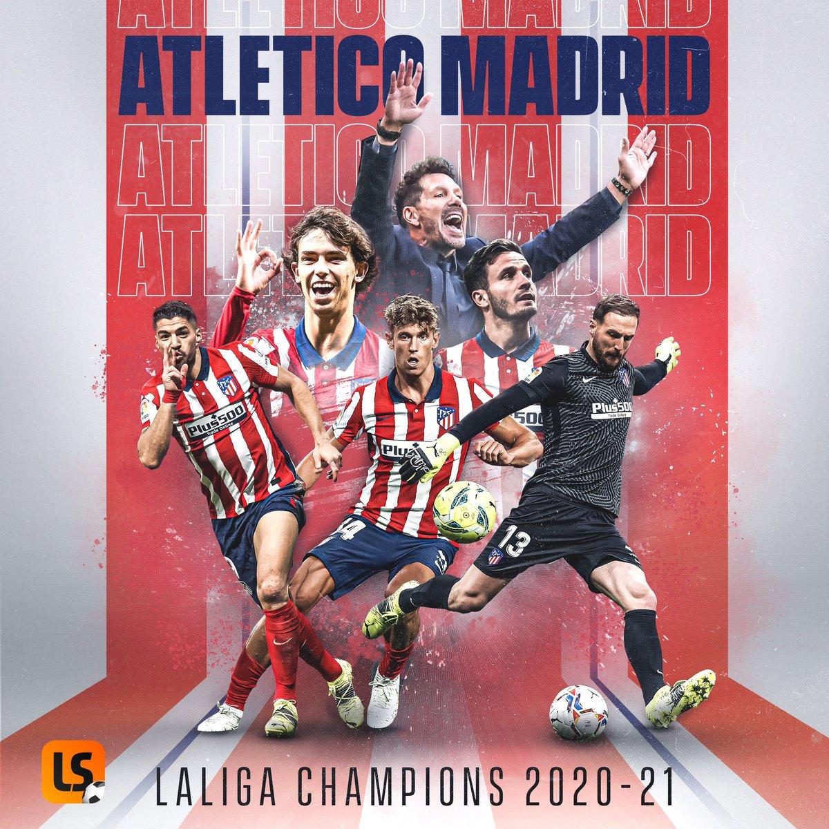 City Radio 88 3 Fm On Twitter Updates Atletico Madrid Is The Champion Of The Year 2020 2021 Season In La Liga Congratulations Atletico Madrid Https T Co Qzcs4suqx3