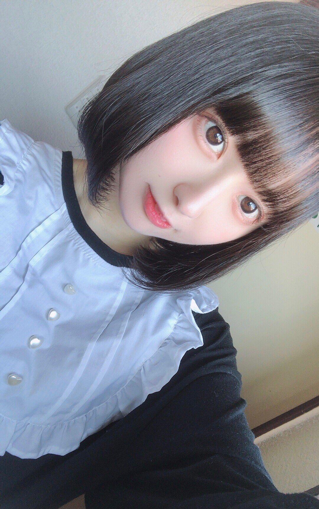 画像,髪を切ったよ💡会える女の子だよ⸜(* ॑꒳ ॑*  )⸝ https://t.co/DcUuRqZglg。
