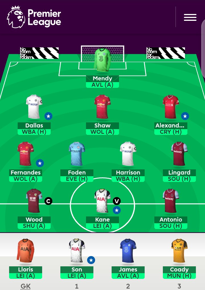 This is how we line up for the final Gameweek 38 https://t.co/R8Egs1PrWL
