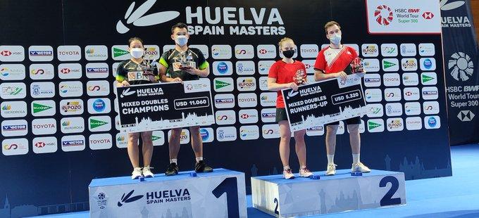 Rinov/Pitha juara Ganda Campuran Spain Masters 2021