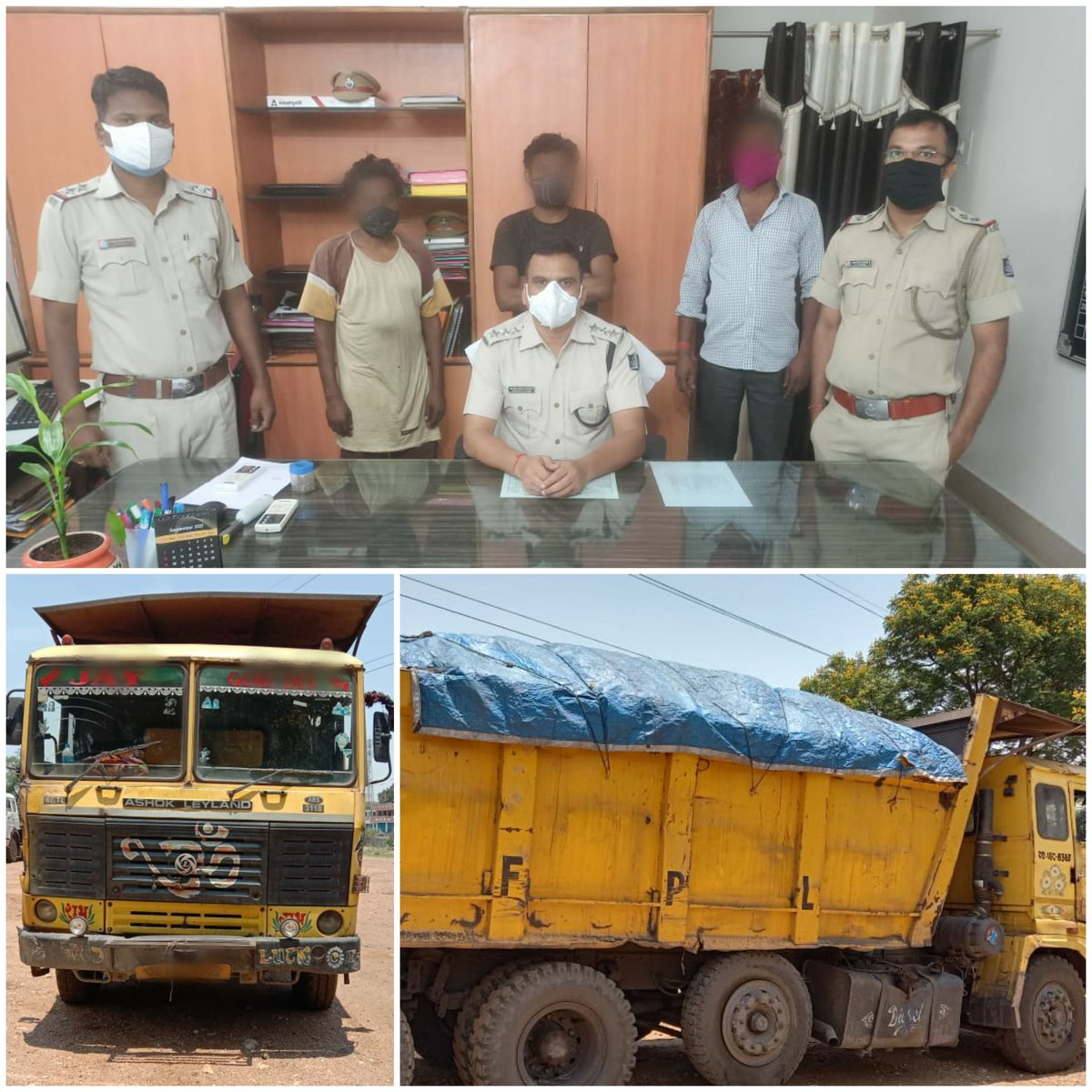 Rajgangpur Police seized one Hyva vehicle at Mandiakudar during illegal transportation of Coal from Hemgir side. 3 persons have been apprehended and approx. 28 MT coal has been seized. PS case No. 152/21 was registered. @DGPOdisha @odisha_police @digwrrkl @SundargarhRto https://t.co/LygsuGHkcl