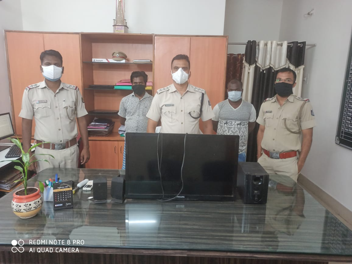 One Burglary case has been detected by Rajgangpur Police. 2 persons arrested and one LED TV, one Woofer & speakers have been seized. PS case No.128/21 was registered. @DGPOdisha @odisha_police @digwrrkl @sagarika_nath https://t.co/AnX9eEV62t