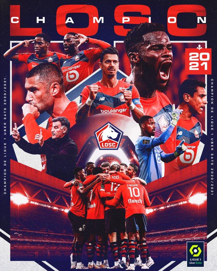 Lille Juara Liga PRancis 2020-2021