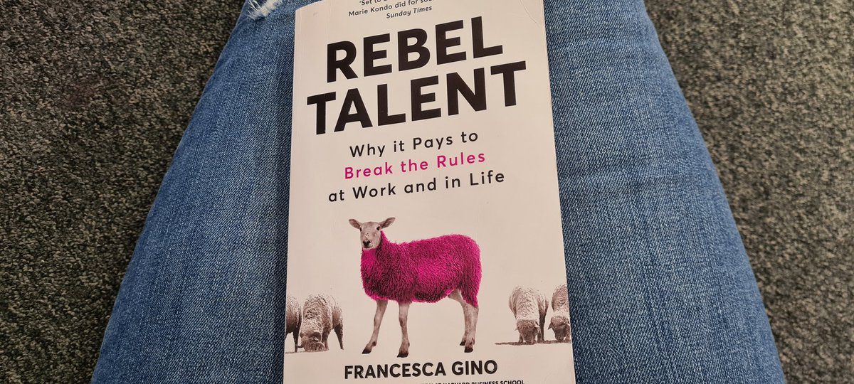 This weeks read 'Rebel Talent' - which I'm enjoying while enduring the @NHS waiting rooms with my Mum as she gets seen for a broken finger 😞 - at some point parent/child roles get reversed which I find incredibly humbling. #learning #reading #books #rebel #talent