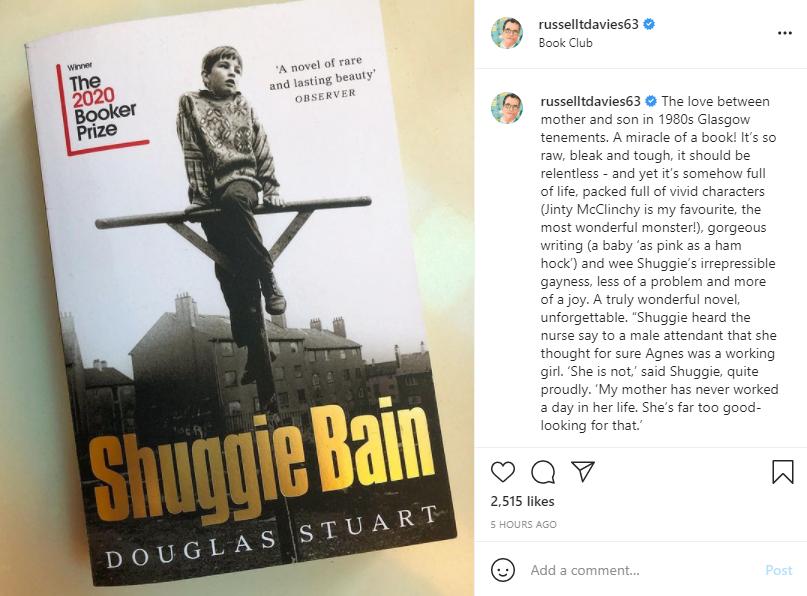 Russell T Davies on #ShuggieBain 🙌🙌🙌 https://t.co/kEhQ2fISkF