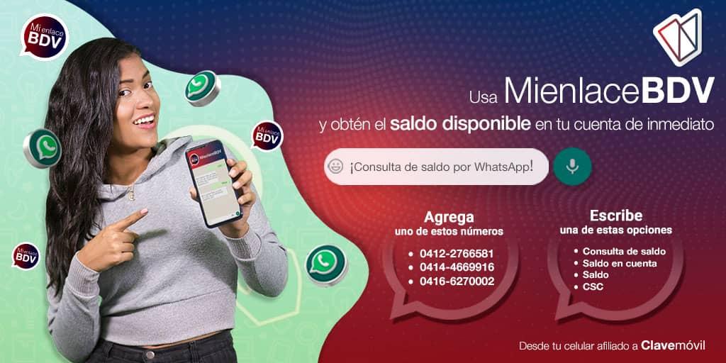 Mienlacebdv: Como consultar saldo en cuenta del banco de Venezuela vía WhatsApp