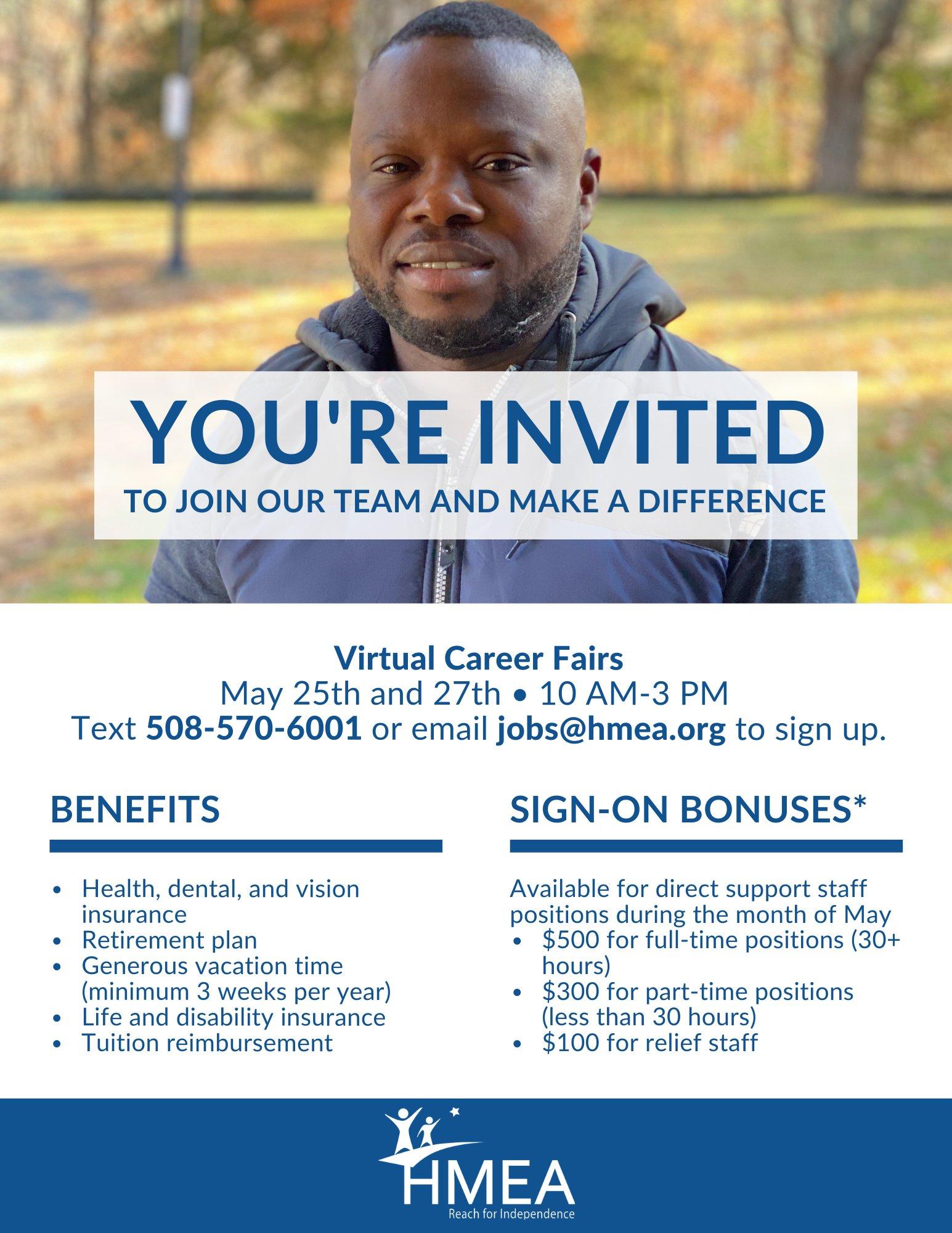 HMEA Inc  - virtual career fair - May 25, May 27