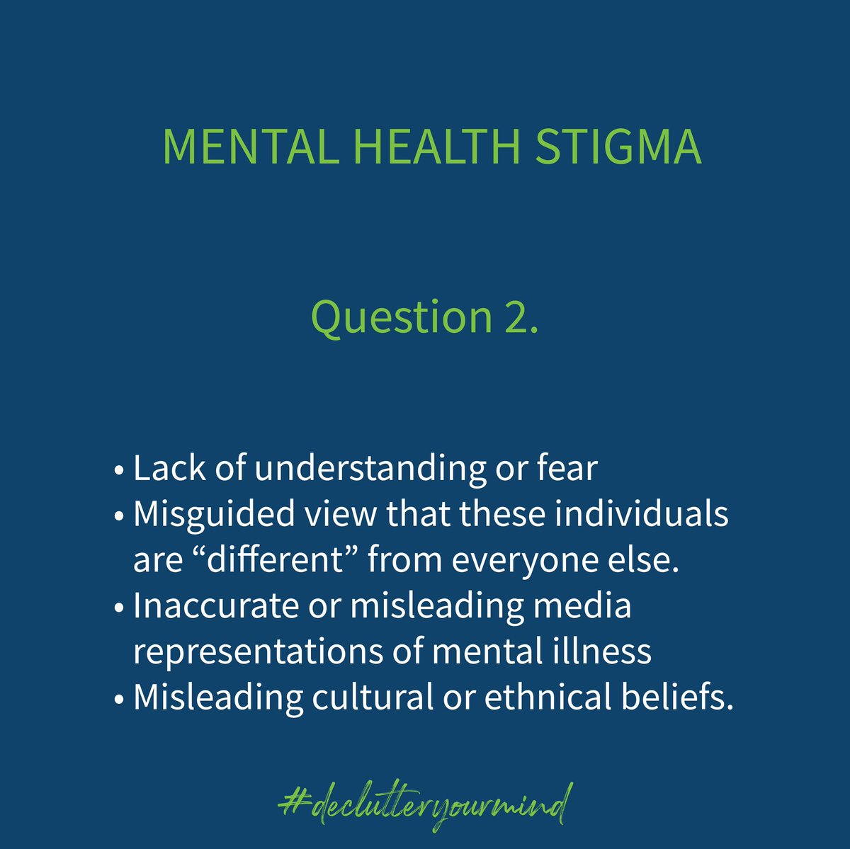 @HisiaPsychology @MUnsilenced @haven_mental Mental Health stigma is prevalent due to a couple of reasons such as.. https://t.co/OLjYFIAMB6