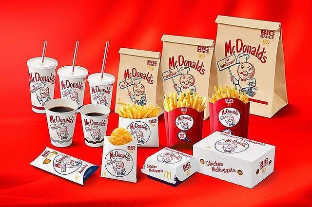 日本マクドナルドが50周年を記念して期間限定でレトロなパッケージに!