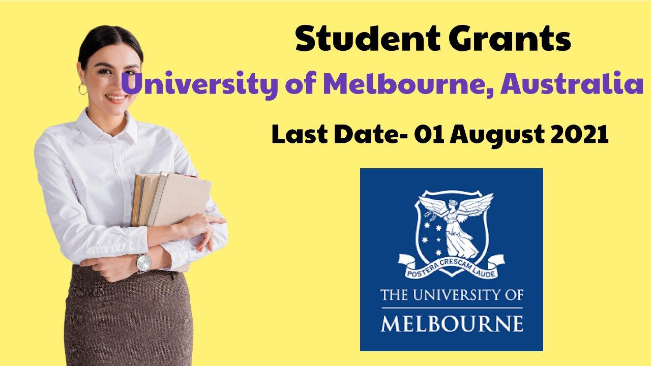 Student Grants by University of Melbourne, Australia