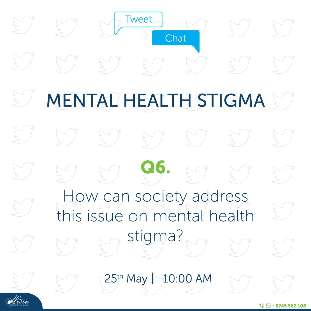 Lastly, Q6: How can society address this whole issue on mental health stigma?  @MUnsilenced, @haven_mental https://t.co/1bLbd2ne0m