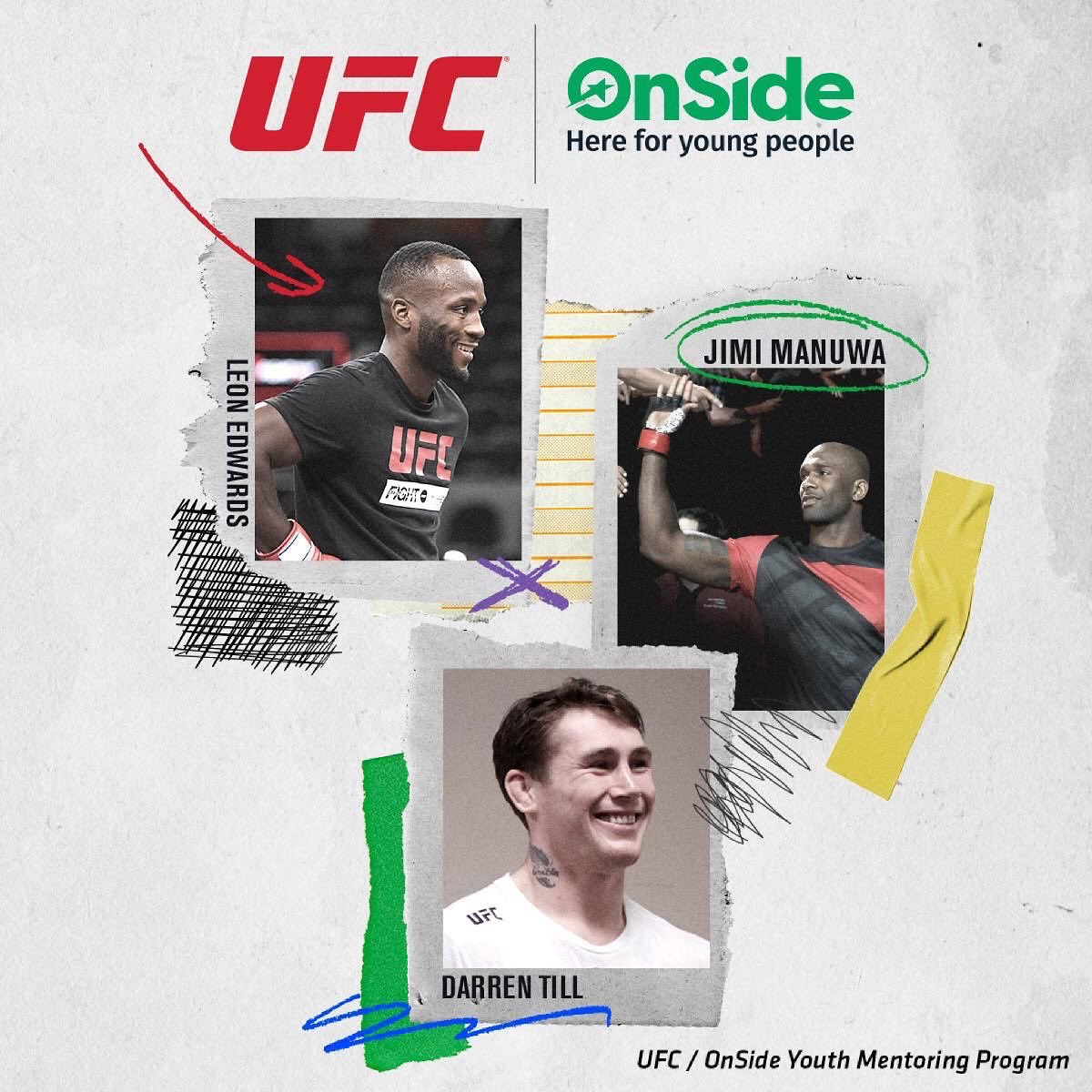 Today we officially launch our UFC / Onside Youth Mentoring Program.  This is something close to my heart and I can't wait to get this going and help our local communities. @UFC  @UFCEurope @OnsideYZ @darrentill2 @pb1_ https://t.co/tIbkvQBtBy