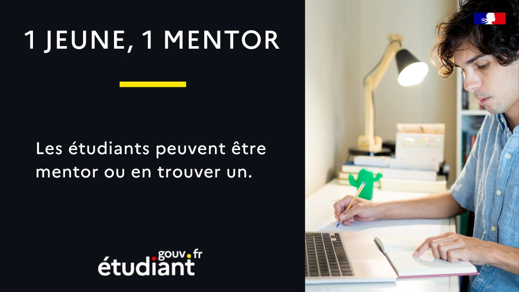 Un outil dédié au #mentorat désormais disponible, via @etudiantgouv : 1 jeune, 1 mentor ! Pour tout savoir ⤵ #jeunes #étudiants