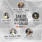 Image for the Tweet beginning: Santos a quienes podemos acudir