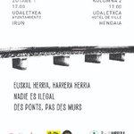 Image for the Tweet beginning: Migrazio politika hiltzaileen aurkako manifestazioa
