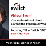 Image for the Tweet beginning: Join SVP of Switch CITIES,
